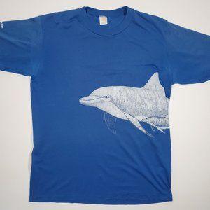 Vintage 1984 Dolphin Wrap Around Single Stitch Tee